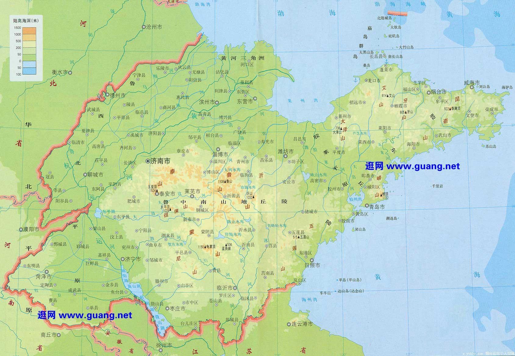 shandong1 - 山东地图