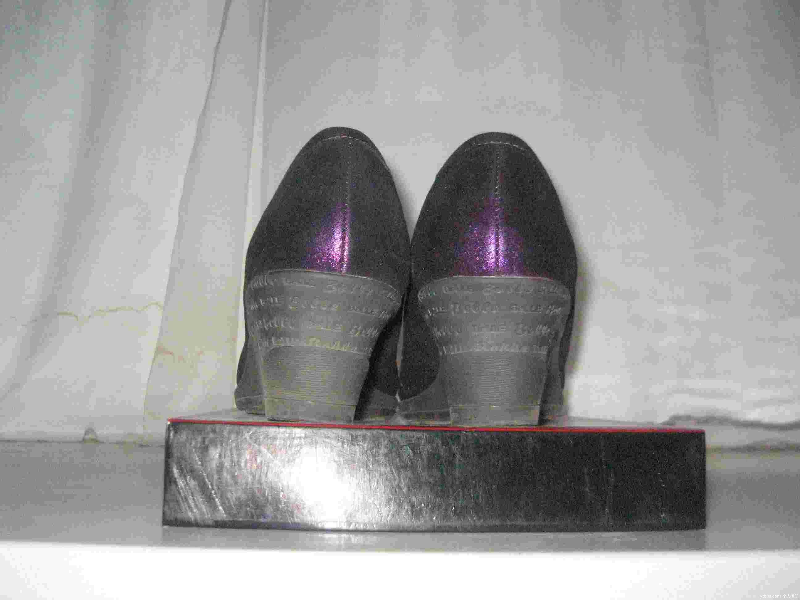 森达浅粉色牛皮单鞋