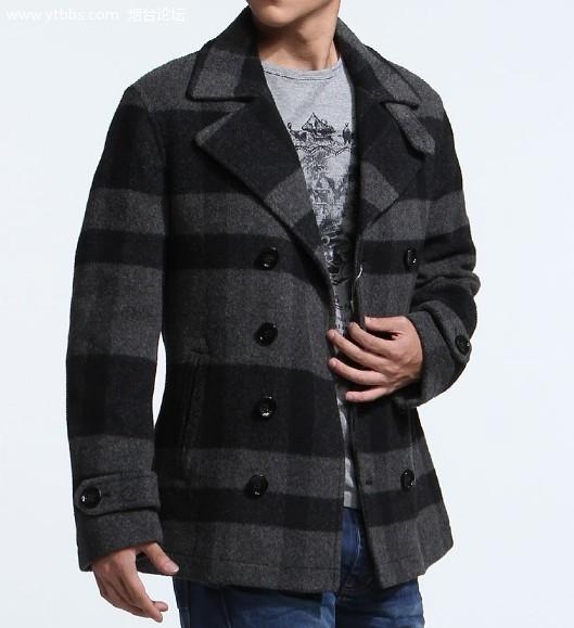 鸟羊毛呢子大衣一件