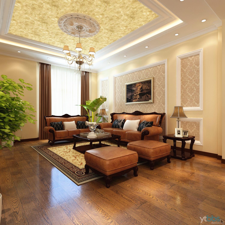 烟台实创装饰-紫金山庄别墅设计-高贵欧式风格