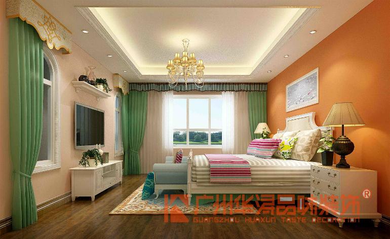 欧式卧室床头背景墙软包珍珠粉