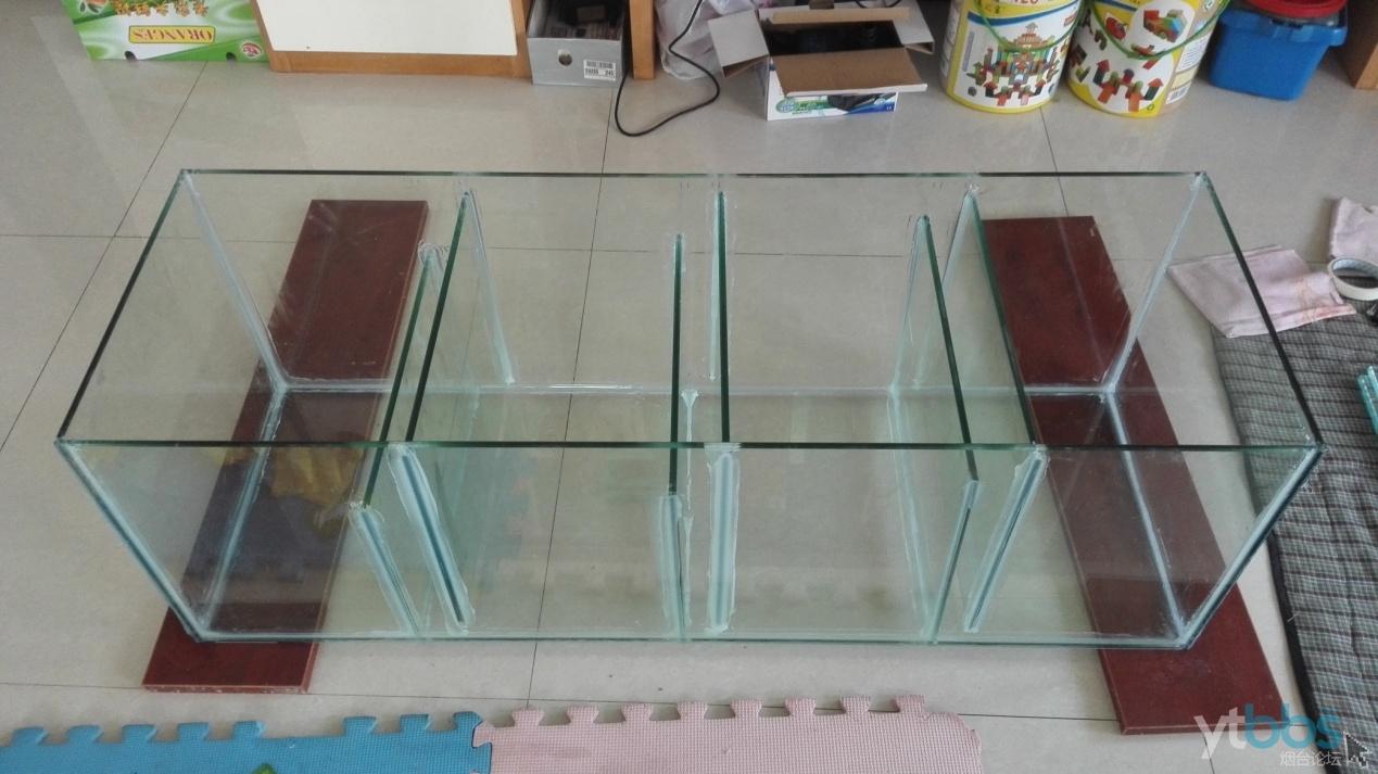 我的爱好 69 『花鸟鱼虫』 69 鱼缸制作过程  第四步:粘底缸