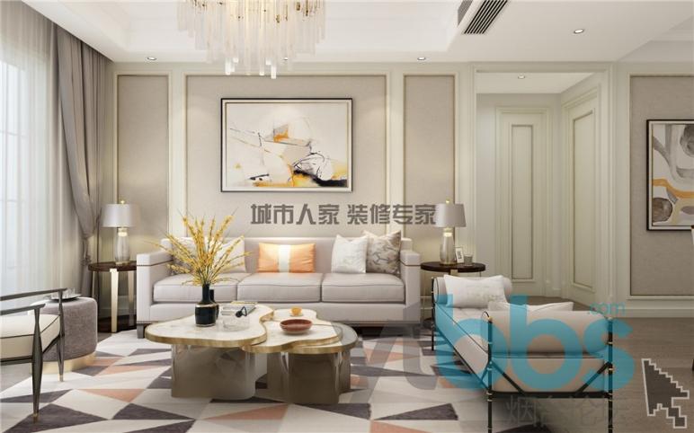 泰颐新城简欧风格设计装修效果图05.jpg