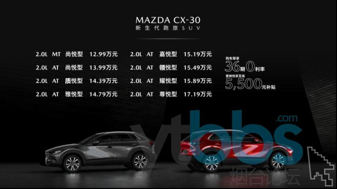 正式出道  售价12.99万-17.19万,新生代跑旅SUV MAZDA CX-30火辣出道173.png