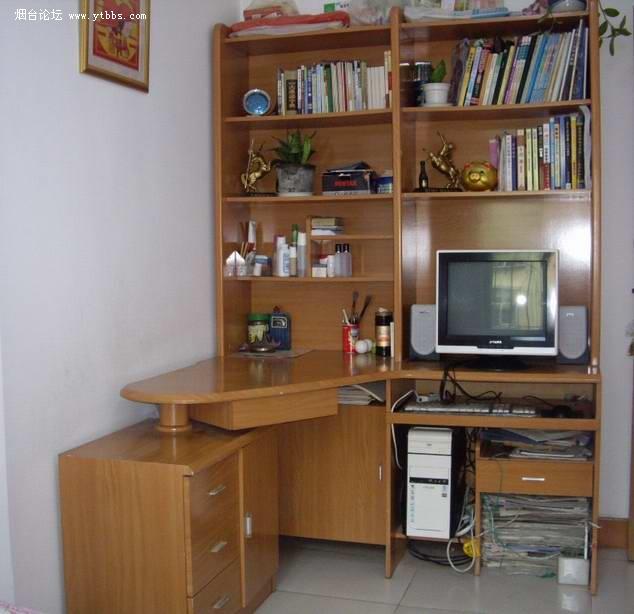電腦桌加模型_電腦桌帶書架效果圖_木工做電腦桌 .
