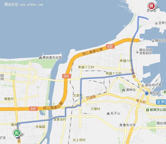 烟台论坛-烟台社区-请问从福山骑车去芝罘岛怎么走?图片
